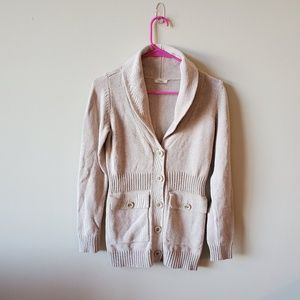Fossil Womens Tan Button Down Cardigan Sweater